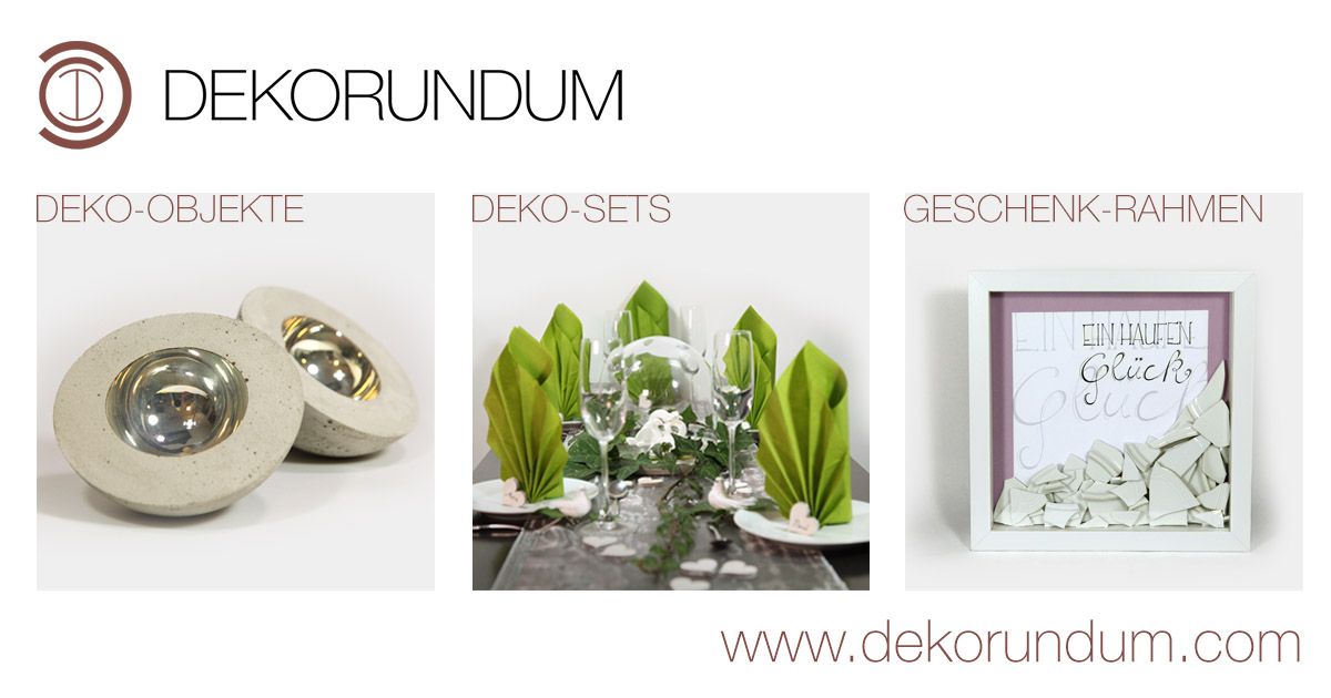 DEKORUNDUM Online-Shop für Beton-Deko, Skulpturen, Tischdeko ...