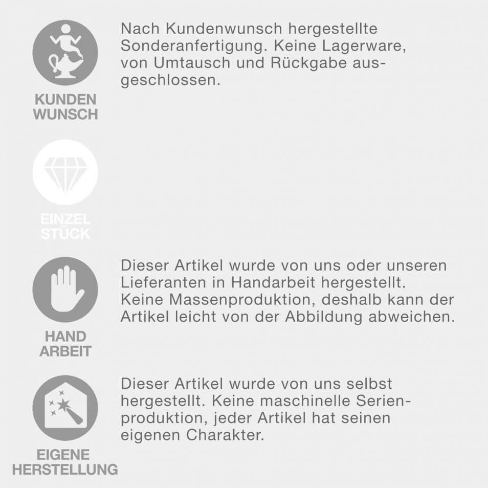 Eigenschaften dieses Deko-Artikels: Kundenwunsch, Handarbeit, eigene Herstellung