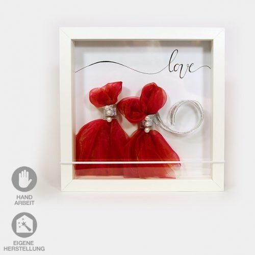 Rahmen für ein Geld-Geschenk für die Hochzeit zweier liebender Frauen.