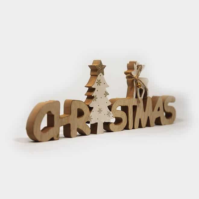 """Deko-Objekt Holz-Schriftzug """"Christmas"""""""