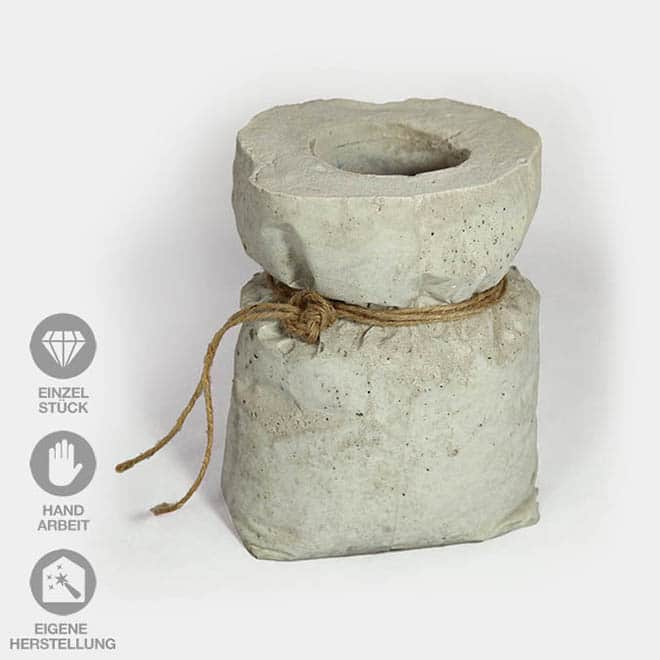 "Deko-Objekt ""Beton-Sack"""