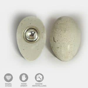 Beton Eier Ober- und Unter-Ansicht
