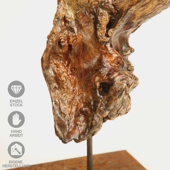 """Ausschnitt Holz-Skulptur """"Abzweigung"""""""
