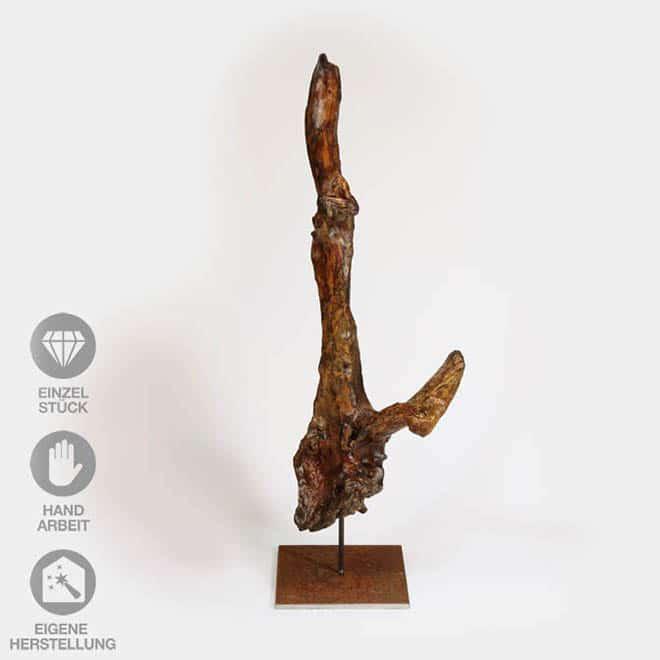 """Holz-Skulptur """"Abzweigung"""""""