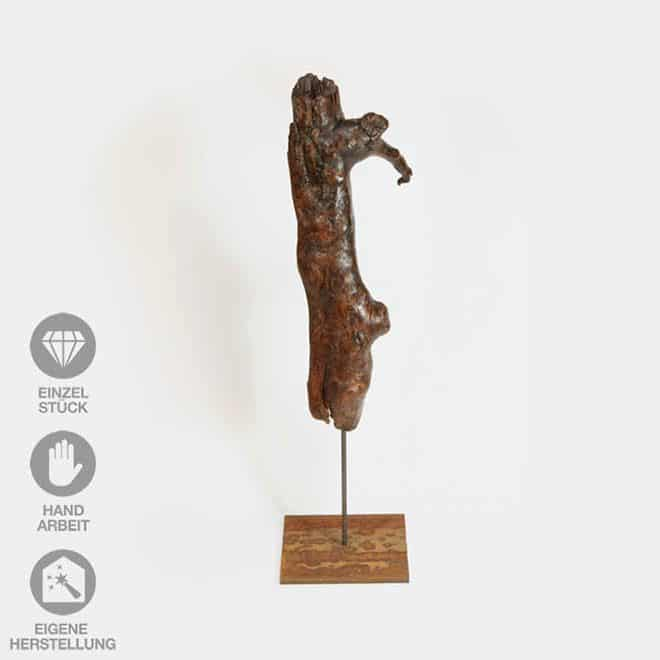 "Holz-Skulptur ""Specht Zuhause"""