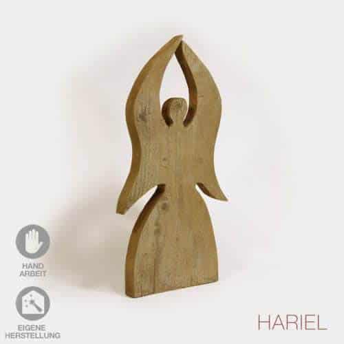 Skulptur Engel aus massivem Holz
