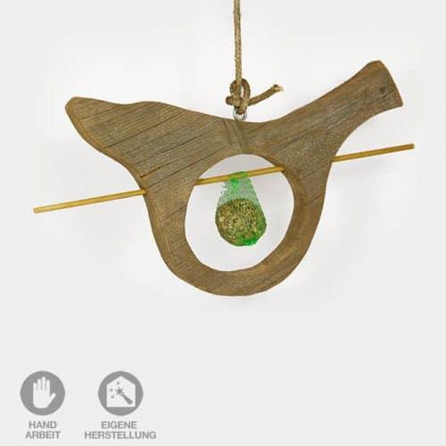 Holzvogel mit Meisen-Knödel