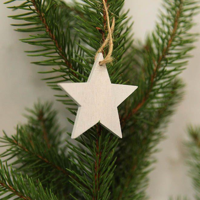 """Weihnachtsbaum-Anhänger """"Holz-Stern"""""""