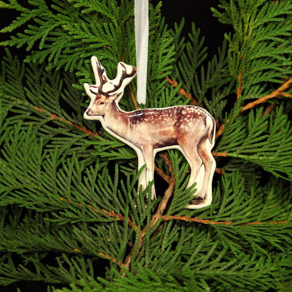 Porzellan-Hirsch zum aufhängen