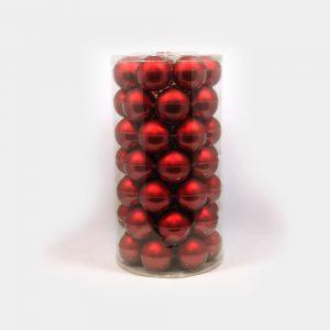 rote, große Weihnachtsbaum-Kugeln aus Glas