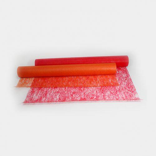 Tischläufer transparent in rot oder orange. Schöner dekorativer Deko-Vlies zur Tischdekoration. Sehr vielseitig einsetzbar!