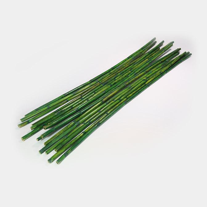 Grüne, lange Bambusstangen zum dekorieren und basteln