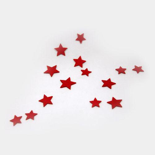 rote, verschieden große Filz-Sterne