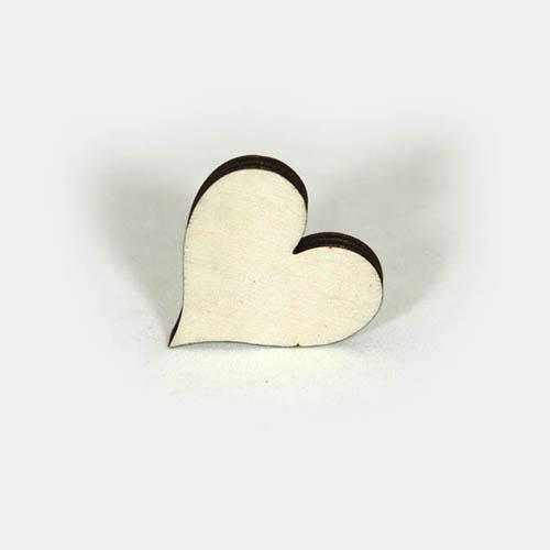 weißes Holz-Herz mit dunklem Rand