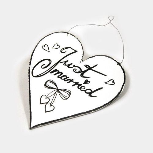 Hochzeits -Schild Just Married zum aufhängen