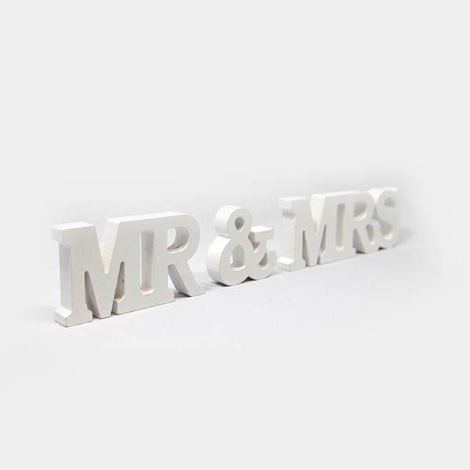 """Hochzeits-Schriftzug""""Mrs.&Mr."""""""