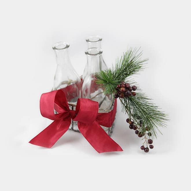 "Advents-Draht-Korb ""modern Flaschen"""