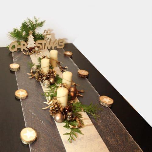 Weihnachts-Festtafel Christmas mit Geweihen