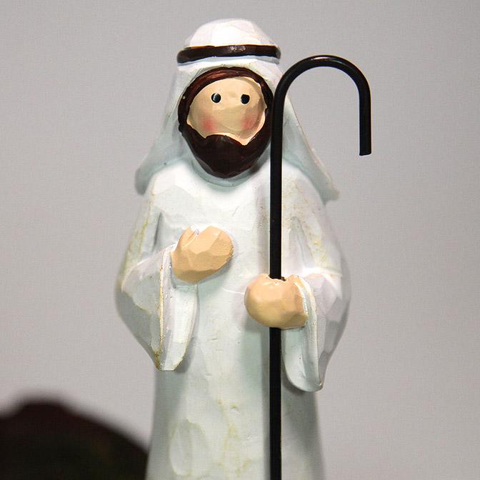 Handgemachte Krippenfigur Josef