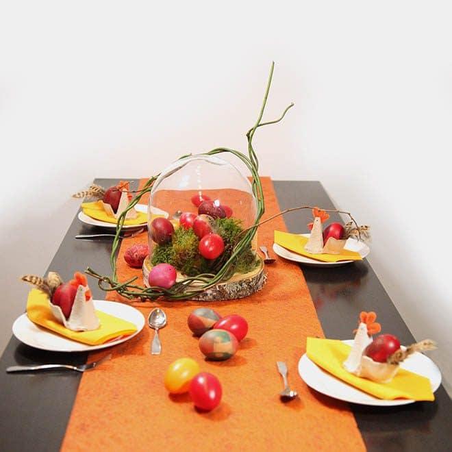 "Tischdeko-Set zu Ostern ""Am Anfang war das Ei"""