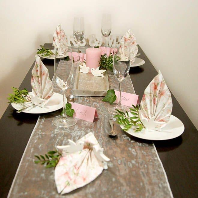 """Hochzeits-Tischdekoration Set """"Magnolie"""""""