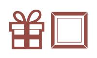 """Icon für Kategorie """"Weihnachtsgeschenke für Frauen - Geschenkrahmen und Gutschein-Verpackungen"""""""