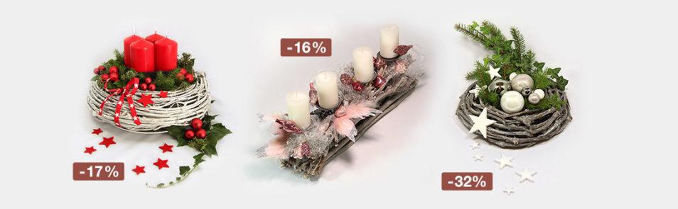 Adventskränze sind bis Ende November mit 15% bis zu 50% Rabatt erhältlich