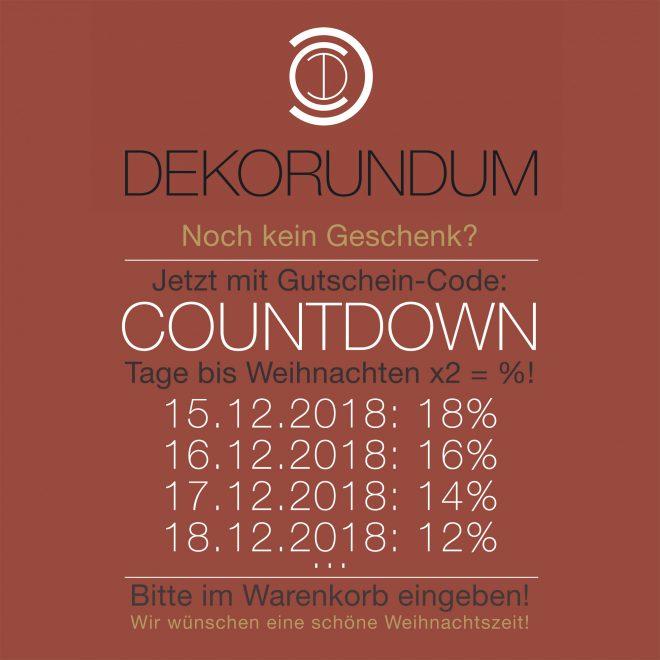 GUTSCHEIN: Weihnachts-Countdown Rabatt