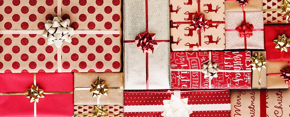 Symbol-Bild für Weihnachtsgeschenke - schön verpackte Geschenke.
