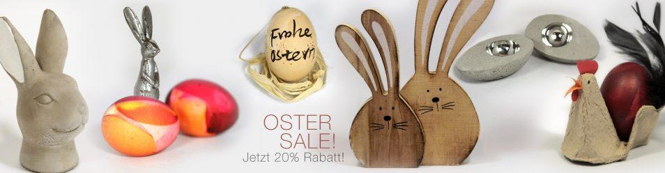 20% Rabatt beim Oster-Sale auf alle Bestellungen bis Ostern