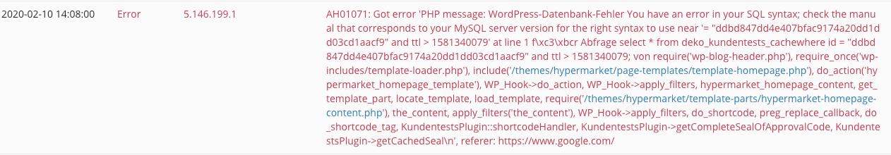 error message 1: