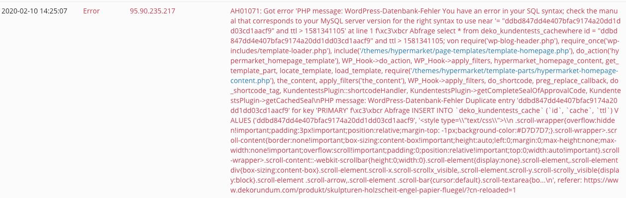 error message 2: